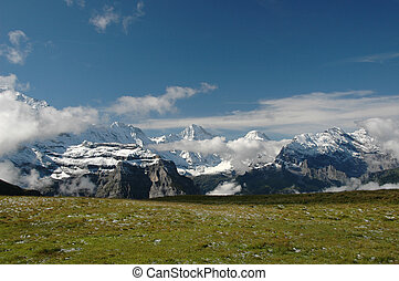 eiger region - region of the Eiger in switzerland