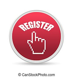 Register now design - Register now design over white...