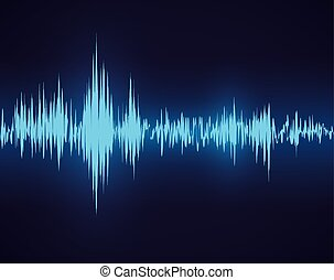 Sound design - Sound design over blue background, vector...