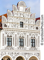 renaissance house in Telc, Czech Republic
