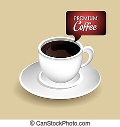 Coffee design. - Coffee design over beige background, vector...