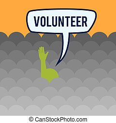 Volunteer design - Volunteer design over orange background,...