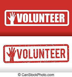 Volunteer design. - Volunteer design over white background,...