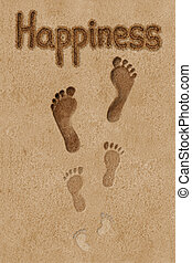 Steps to happiness. Concept illustration. - Concept...