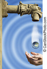 Water tap with hands