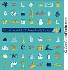 Set of United Arab Emirates icons