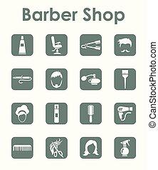 Set of barbershop simple icons - It is a set of barbershop...