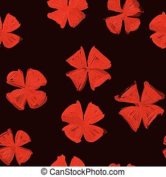 pattern with elements modernity and old style. Red and black...