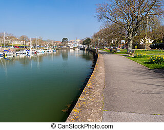 Kingsbridge Devon England - Quayside at Kingsbridge Devon...