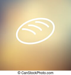 Bread thin line icon - Bread icon thin line for web and...