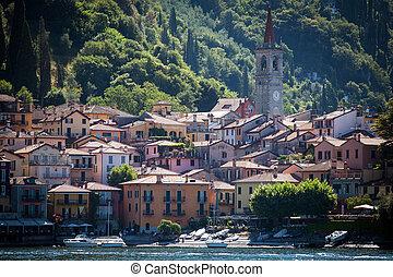 Varenna in Lake Como, Italy - Town of Varenna in Lake Como,...