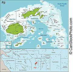 Fiji map - Fiji is an island country in Melanesia in the...