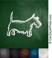 scottish terrier icon Hand drawn vector illustration...