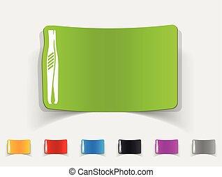 realistic design element. tweezers