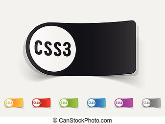 realistic design element CSS3