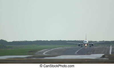 Take-off - Airplane take-off, International Airport of...