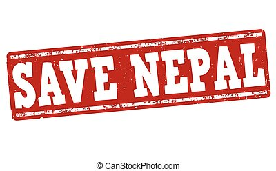 Save Nepal stamp - Save Nepal grunge rubber stamp on white...