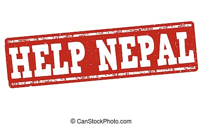 Help Nepal stamp - Help Nepal grunge rubber stamp on white...