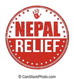 Nepal relief stamp - Nepal relief grunge rubber stamp on...