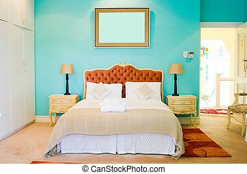 bedroom - a modern colorful bedroom