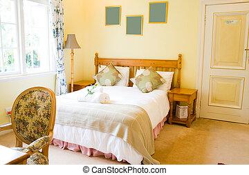 bedroom - a modern bedroom in home