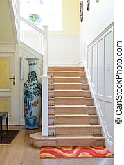 stairs - stairway in modern double storey home