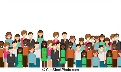 People animation - People with space to insert text or...