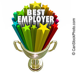Best Employer Gold Trophy Top Workplace Job Career - Best...