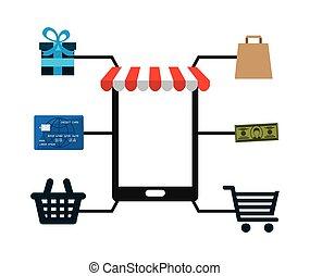 e-commerce icon design, vector illustration eps10 graphic