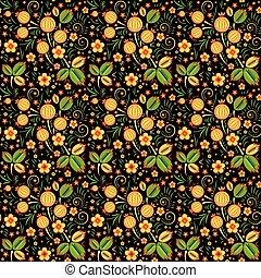 Khokhloma seamless pattern