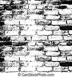 Brick wall of the house, with lines of a laying of a...