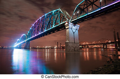 Reclaimed Railroad Tressle Big Four Bridge Ohio River...