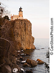 Split Rock Lighthouse Lake Superior Minnesota United States...
