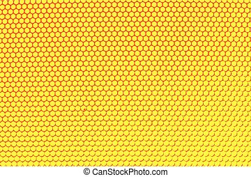Metal holed grid background yellow hole Vector illustration...
