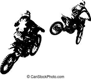 Motocross, Ilustração, participates, campeonato, vetorial,...