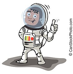 Astronaut thumb up