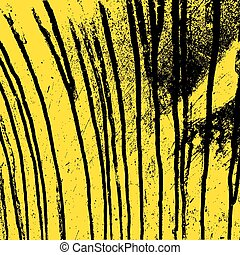 Texture  yellow  wall with black streaks stains. Vector illustra