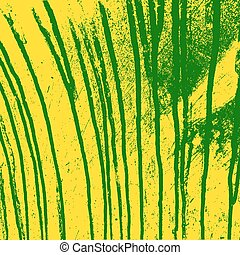 Texture  yellow  wall with green streaks stains. Vector illustra