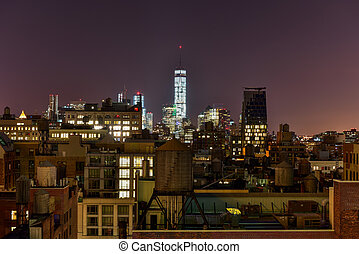 New York Skyline view over the Flatiron district and...