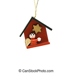 Wooden Christmas decoration witch represents bible themes...