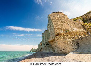 Cliffs of Etretat, Normandy - France.