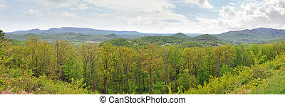 Wide panorama of Appalachian Mnts - Wide panorama of the...