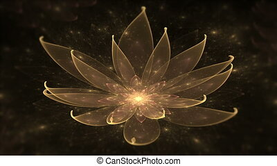 Golden lotus, water lily,meditation - Space flower, golden...