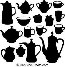 Simple coffee tea crockery