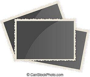 Retro Photo Frame On White Background Vector illustration