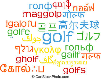 Golf multilanguage wordcloud background concept