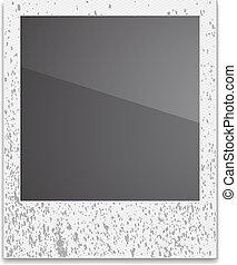 Retro Photo Frame Polaroid On White Background Vector...