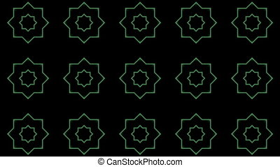 Flashing Kaleidoscope shapes