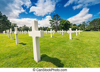 American cemetery in Normandy, France.