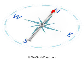 Compass - An image of a stylish compass with a red arrow